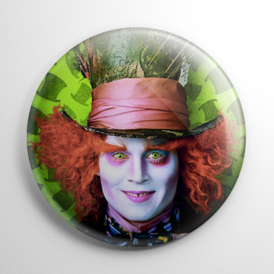 Alice in Wonderland - Mad Hatter Button