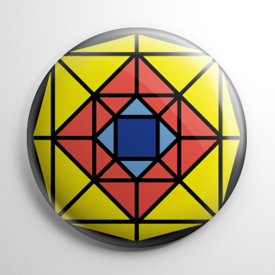 Suspiria Stained Glass Window Button