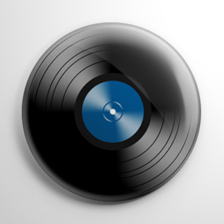 Novelty - Vinyl Record Blue Button