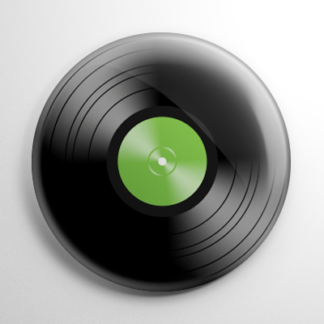 Novelty - Vinyl Record Green Button