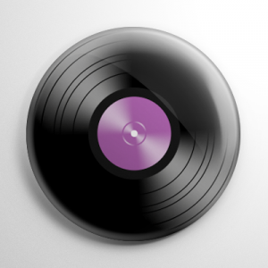Novelty - Vinyl Record Purple Button