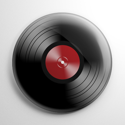 Novelty - Vinyl Record Red Button