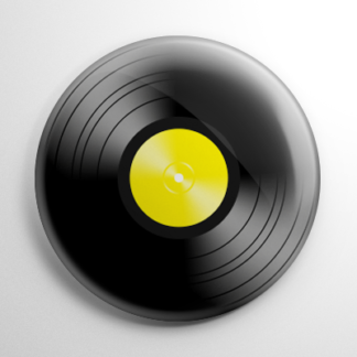 Novelty - Vinyl Record Yellow Button