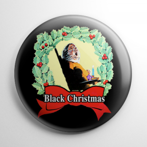 Black Christmas Button