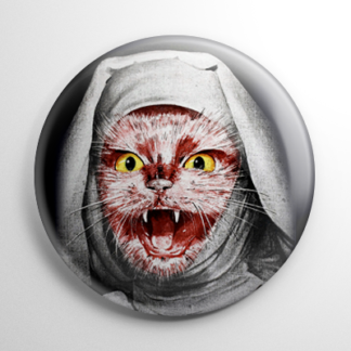 The Legacy Nun Cat Button