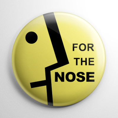 Pharmacy Label - For the Nose Button