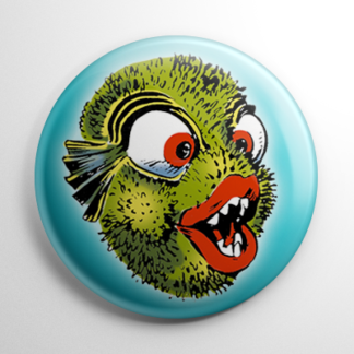 Vintage Halloween Mask Prickle Puss Button