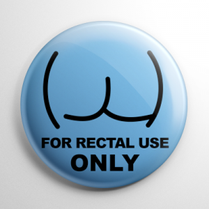 Pharmacy Label - Rectal Use Only Button