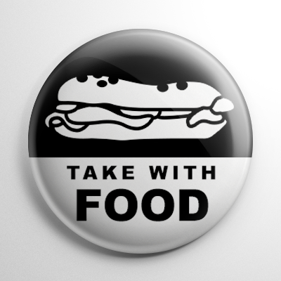 Pharmacy Label - Take with Food Button