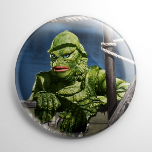 Creature from the Black Lagoon (F) Button