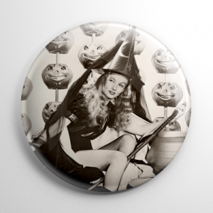 Halloween Pin Up - Veronica Lake (A) Button
