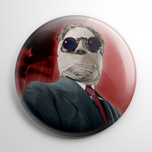 The Invisible Man (F) Button