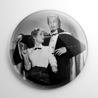Mad Magician B&W Button