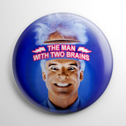 Man with Two Brains Button