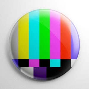 Television Please Stand By Test Pattern Button