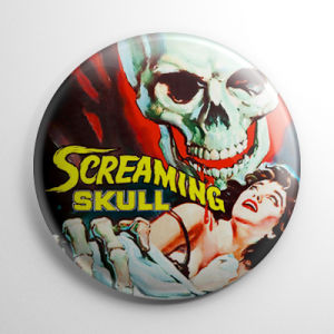 Screaming Skull Button