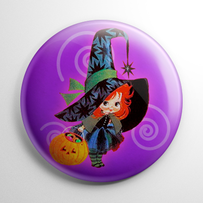 Vintage Halloween – Witch Trick r' Treater Button
