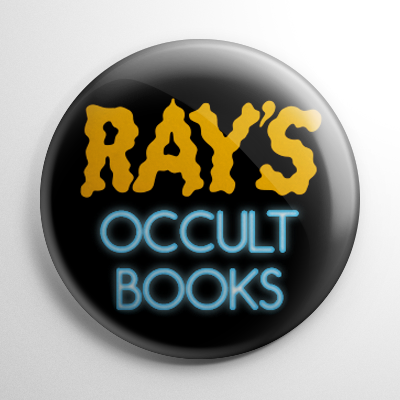 Ghostbusters Ray's Occult Books Button