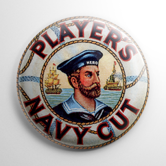 Player's Navy Cut Tobacco Button