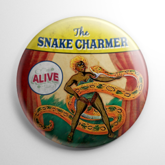 Sideshow - Snake Charmer Button