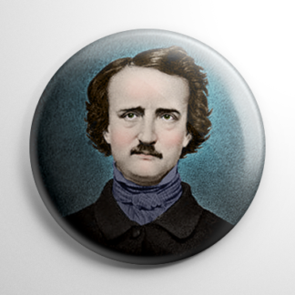 Edgar Allan Poe Button