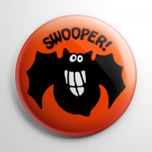 Vintage Halloween - Swooper Bat Button