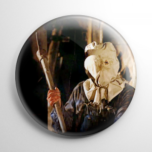 Friday the 13th Jason Voorhees Bag Mask Button