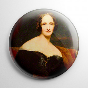 Mary Wollstonecraft Shelley Button