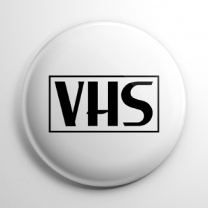 VHS Video Tape White Button