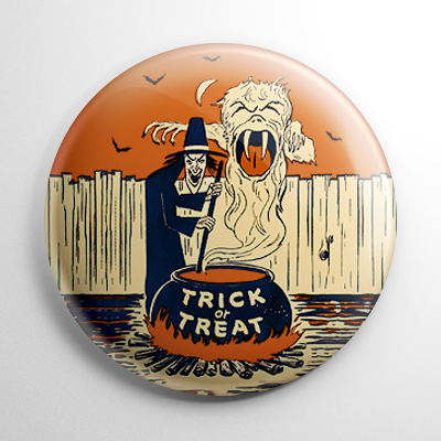 Vintage Halloween - Witches Brew Button