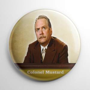 Clue Colonel Mustard Button