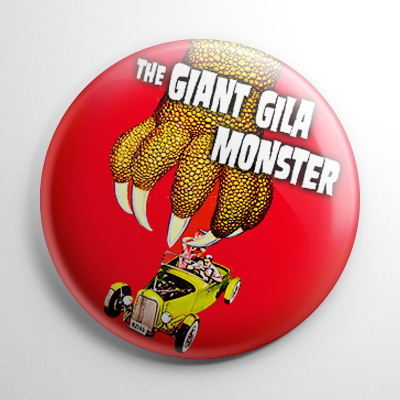 Giant Gila Monster Button
