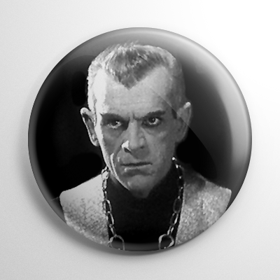 Black Cat - Boris Karloff (A) Button