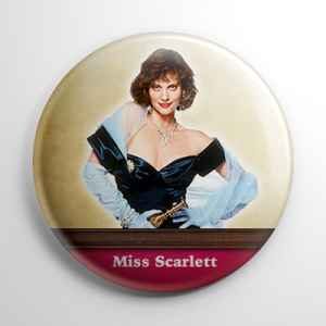 Clue Miss Scarlett Button