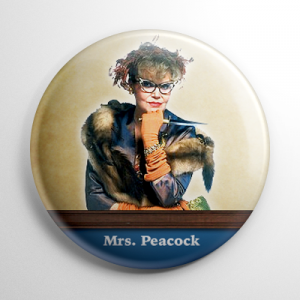 Clue Mrs. Peacock Button