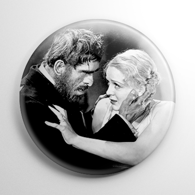 Old Dark House - Boris Karloff & Gloria Stuart Button