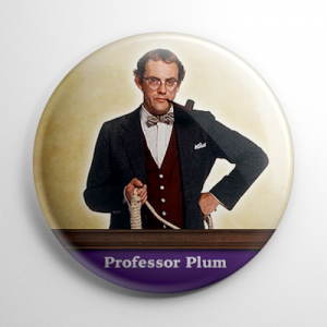 Clue Professor Plum Button