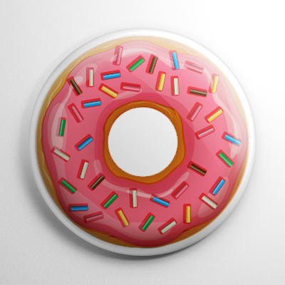 Sprinkle Doughnut Button