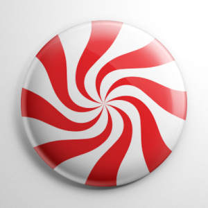 Christmas - Starlight Mint Button