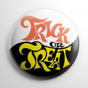 Vintage Halloween - Funky Trick or Treat Button
