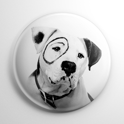 Little Rascals - Petey the Dog Button