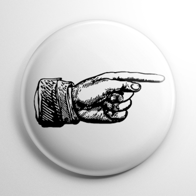 Vintage Pointer Finger Button