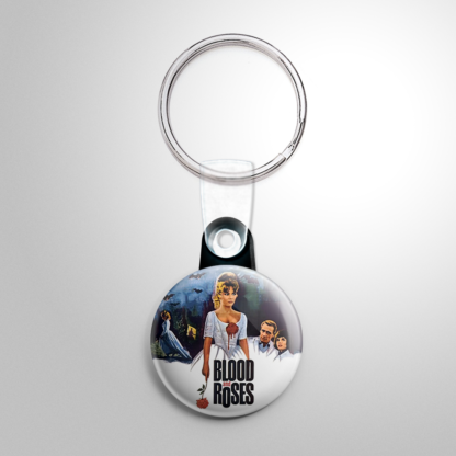 Horror - Blood and Roses Keychain