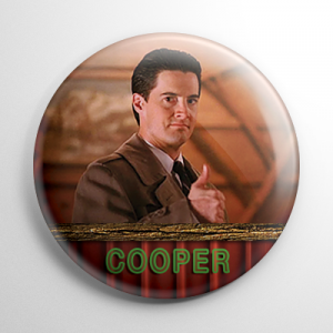 Twin Peaks Agent Dale Cooper Button