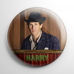 Twin Peaks Sheriff Harry S. Truman Button