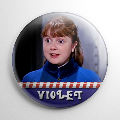 Willy Wonka – Violet Beauregarde Button