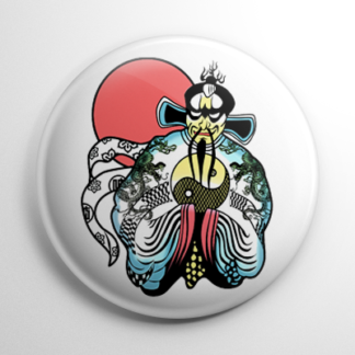 Big Trouble in Little China Fu Manchu Button
