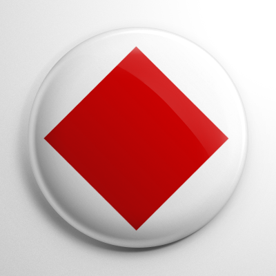 Nautical Flag F Button