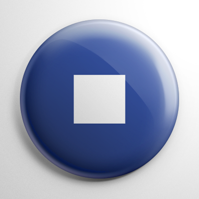 Nautical Flag P Button