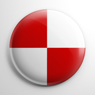 Nautical Flag U Button